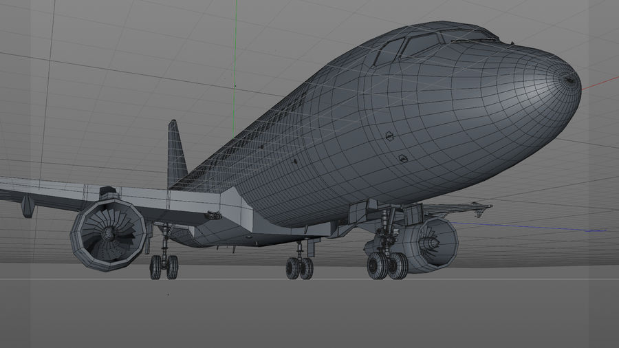 AIR BERLIN Airbus A320 L494 royalty-free 3d model - Preview no. 32