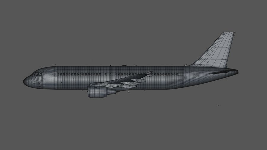 AIR BERLIN Airbus A320 L494 royalty-free 3d model - Preview no. 43