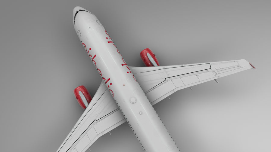 AIR BERLIN Airbus A320 L494 royalty-free 3d model - Preview no. 7