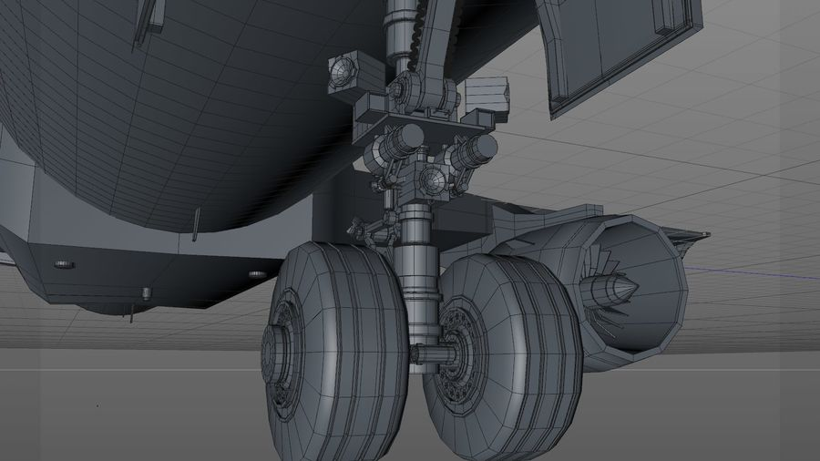 AIR BERLIN Airbus A320 L494 royalty-free 3d model - Preview no. 31