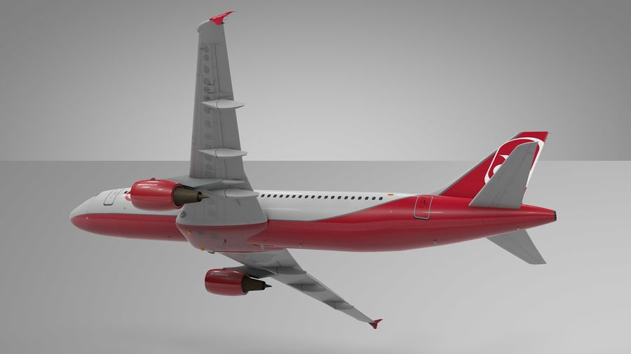AIR BERLIN Airbus A320 L494 royalty-free 3d model - Preview no. 19
