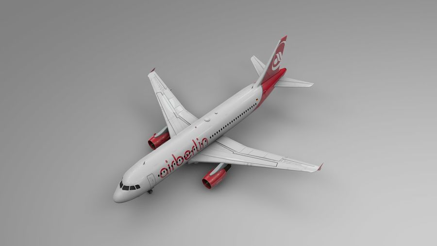 AIR BERLIN Airbus A320 L494 royalty-free 3d model - Preview no. 2