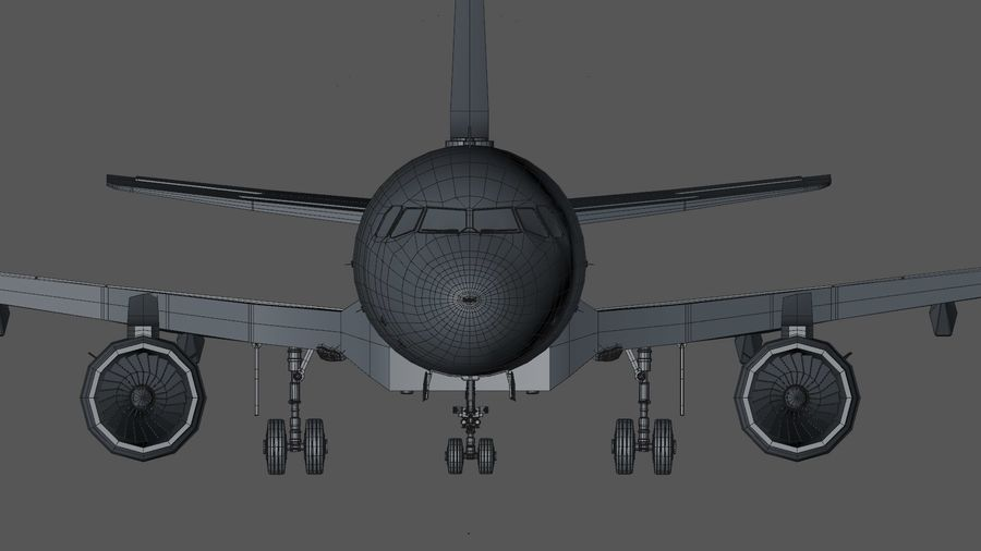 AIR BERLIN Airbus A320 L494 royalty-free 3d model - Preview no. 46
