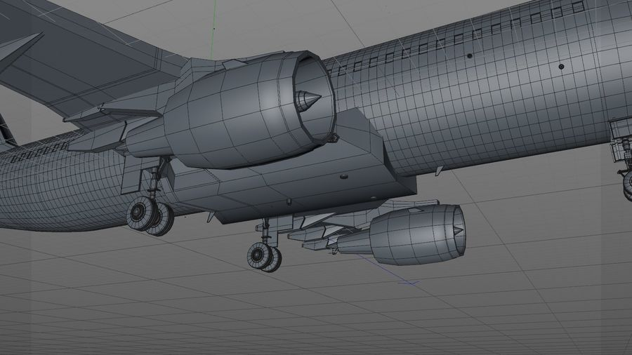 AIR BERLIN Airbus A320 L494 royalty-free 3d model - Preview no. 27