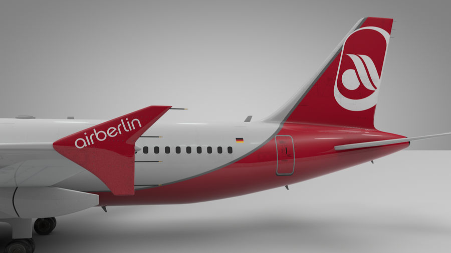 AIR BERLIN Airbus A320 L494 royalty-free 3d model - Preview no. 13