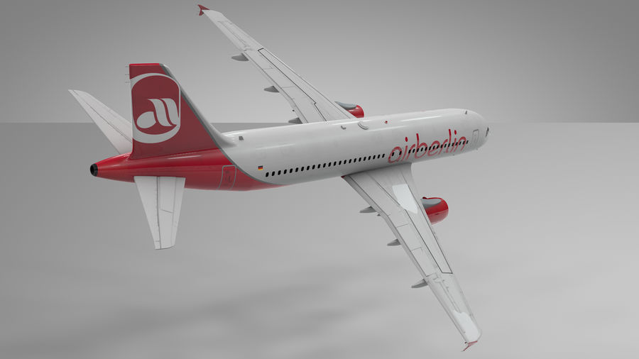AIR BERLIN Airbus A320 L494 royalty-free 3d model - Preview no. 18