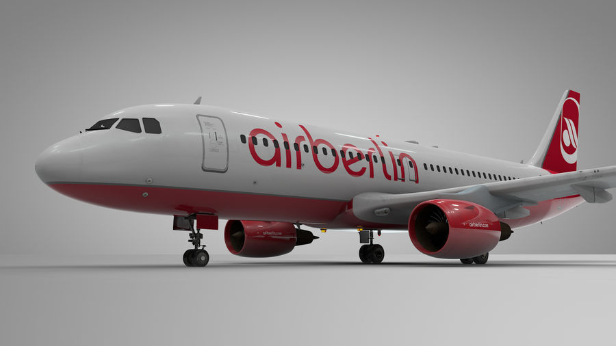 AIR BERLIN Airbus A320 L494 royalty-free 3d model - Preview no. 8