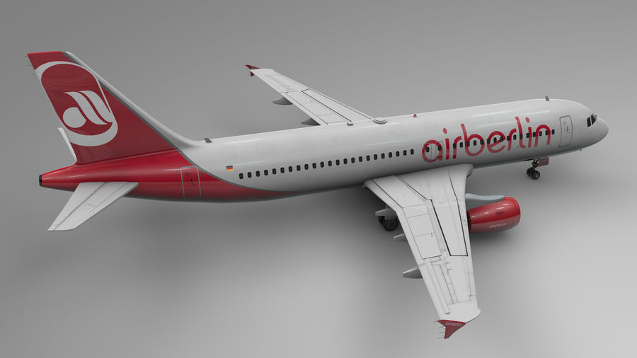 AIR BERLIN Airbus A320 L494 royalty-free 3d model - Preview no. 5