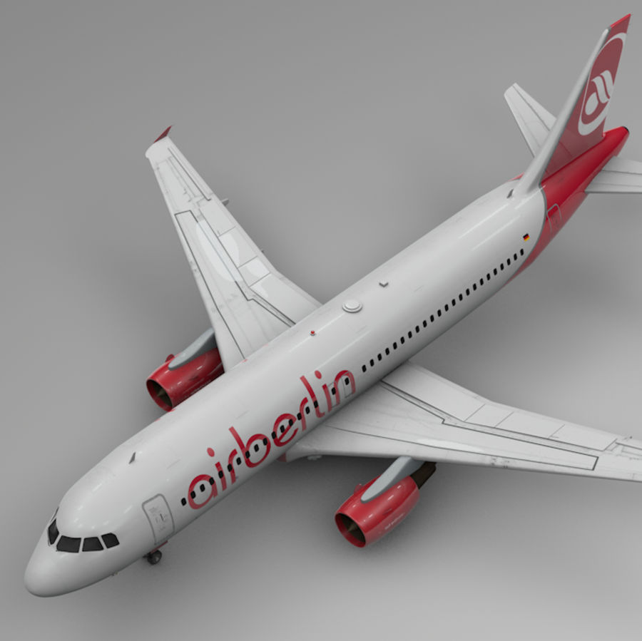 AIR BERLIN Airbus A320 L494 royalty-free 3d model - Preview no. 1