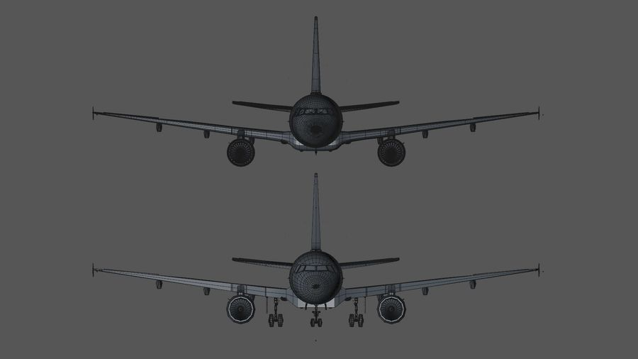 AIR BERLIN Airbus A320 L494 royalty-free 3d model - Preview no. 45