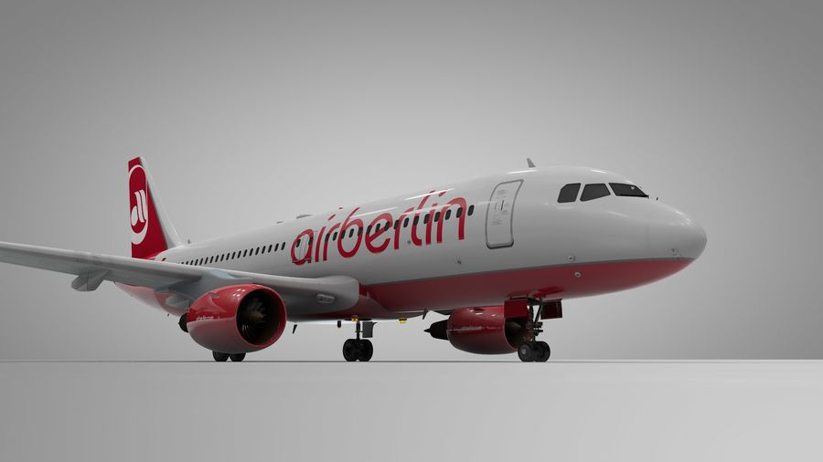 AIR BERLIN Airbus A320 L494 royalty-free 3d model - Preview no. 6