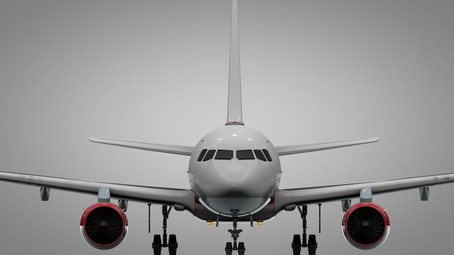 AIR BERLIN Airbus A320 L494 royalty-free 3d model - Preview no. 10