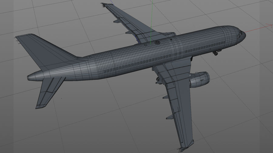 AIR BERLIN Airbus A320 L494 royalty-free 3d model - Preview no. 25