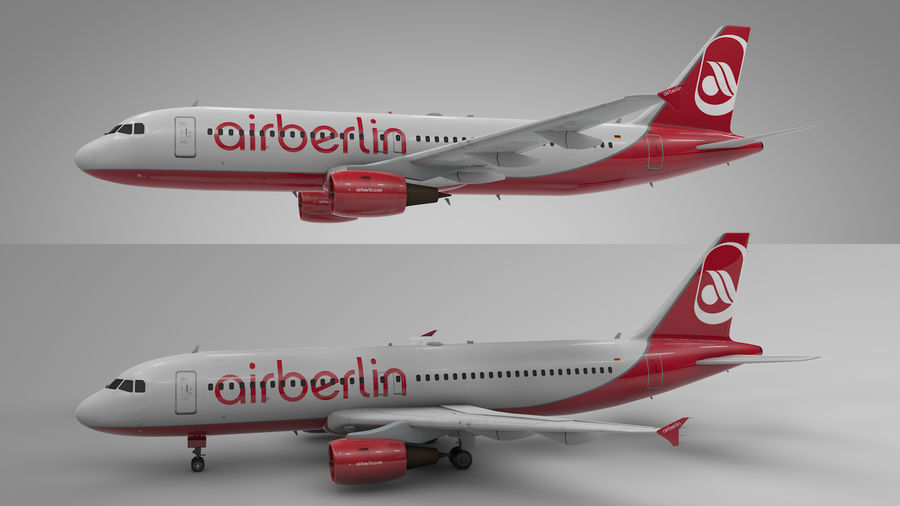 AIR BERLIN Airbus A320 L494 royalty-free 3d model - Preview no. 21