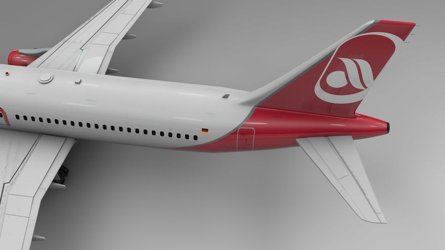 AIR BERLIN Airbus A320 L494 royalty-free 3d model - Preview no. 12