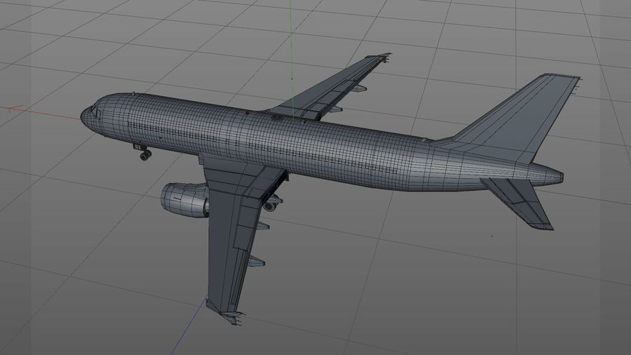 AIR BERLIN Airbus A320 L494 royalty-free 3d model - Preview no. 24