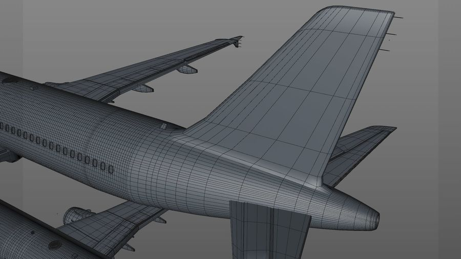 AIR BERLIN Airbus A320 L494 royalty-free 3d model - Preview no. 54