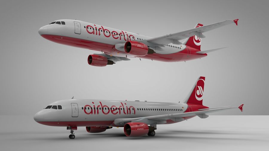 AIR BERLIN Airbus A320 L494 royalty-free 3d model - Preview no. 22
