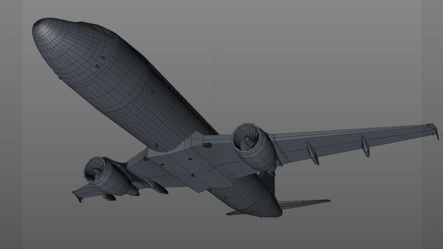 AIR BERLIN Airbus A320 L494 royalty-free 3d model - Preview no. 35