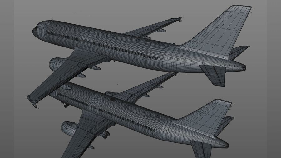 AIR BERLIN Airbus A320 L494 royalty-free 3d model - Preview no. 53