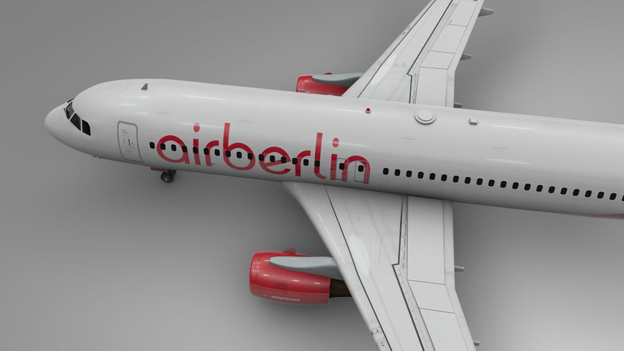 AIR BERLIN Airbus A320 L494 royalty-free 3d model - Preview no. 11