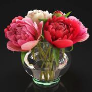 Modelo 3D de flores peonías modelo 3d