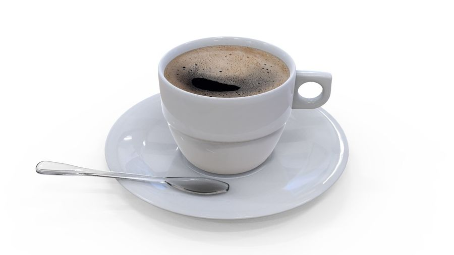 Cup Coffee royalty-free 3d model - Preview no. 5