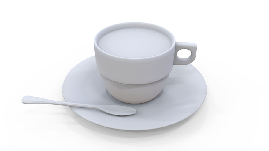 Cup Coffee royalty-free 3d model - Preview no. 7