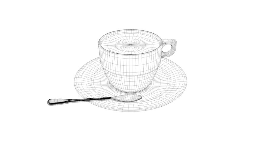 Cup Coffee royalty-free 3d model - Preview no. 8