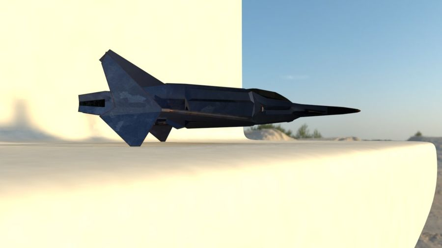 Stealth Fighter Jet royalty-free 3d model - Preview no. 9