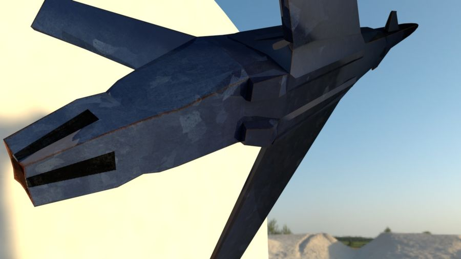 Stealth Fighter Jet royalty-free 3d model - Preview no. 12