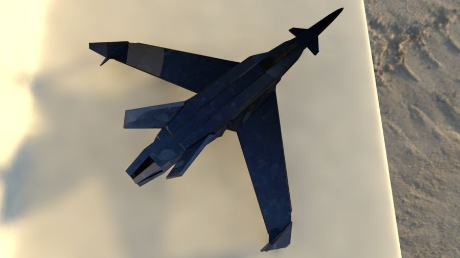 Stealth Fighter Jet royalty-free 3d model - Preview no. 8