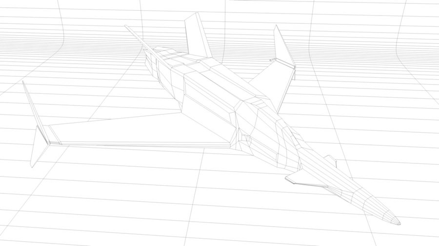 Stealth Fighter Jet royalty-free 3d model - Preview no. 15