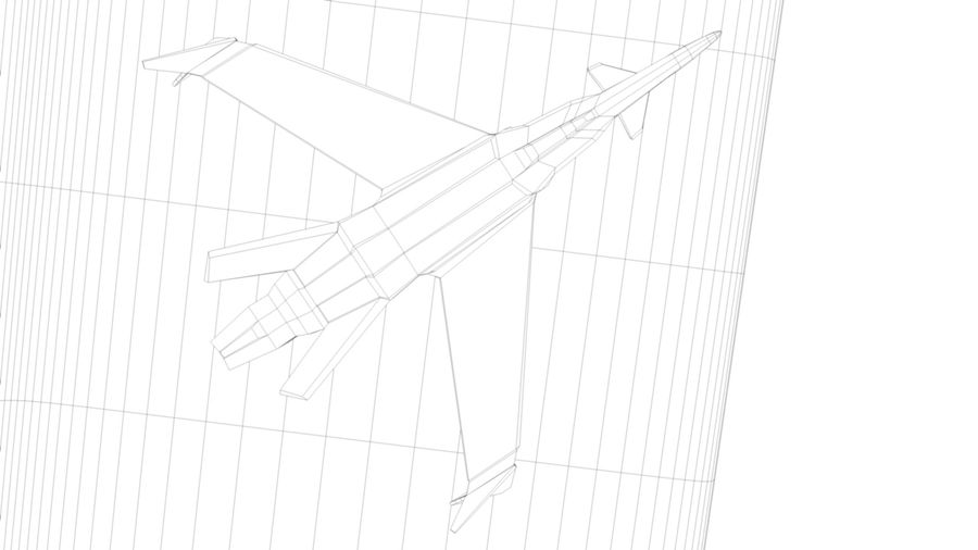 Stealth Fighter Jet royalty-free 3d model - Preview no. 18