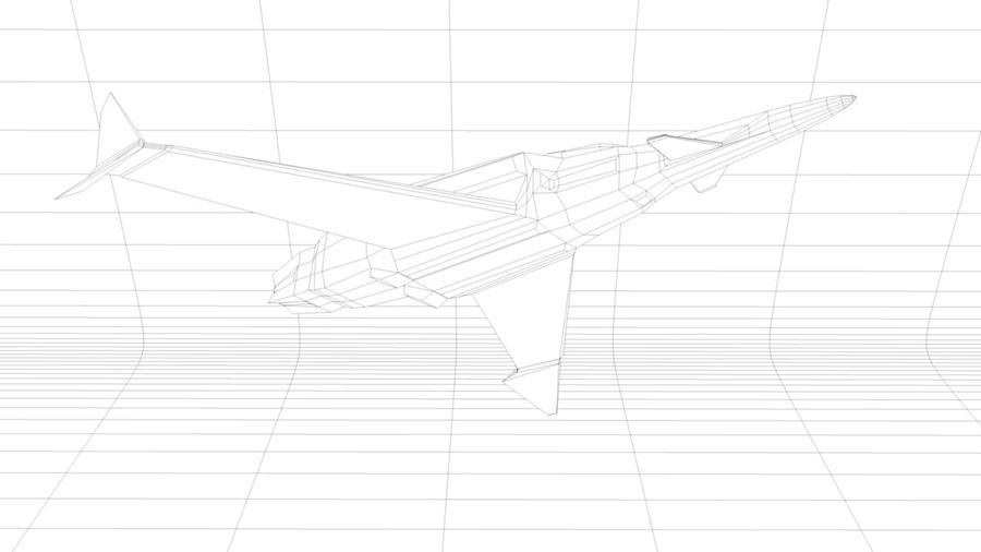 Stealth Fighter Jet royalty-free 3d model - Preview no. 14