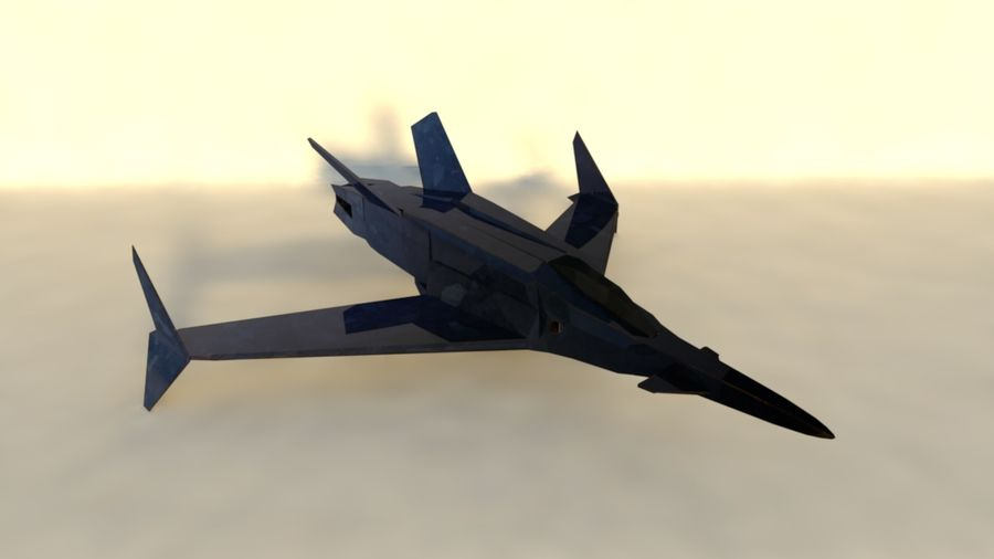 Stealth Fighter Jet royalty-free 3d model - Preview no. 1