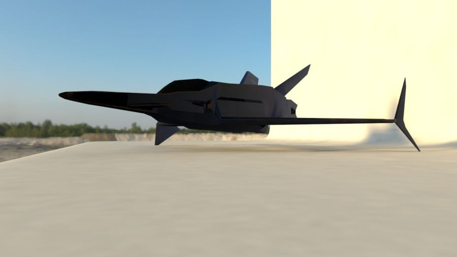 Stealth Fighter Jet royalty-free 3d model - Preview no. 10