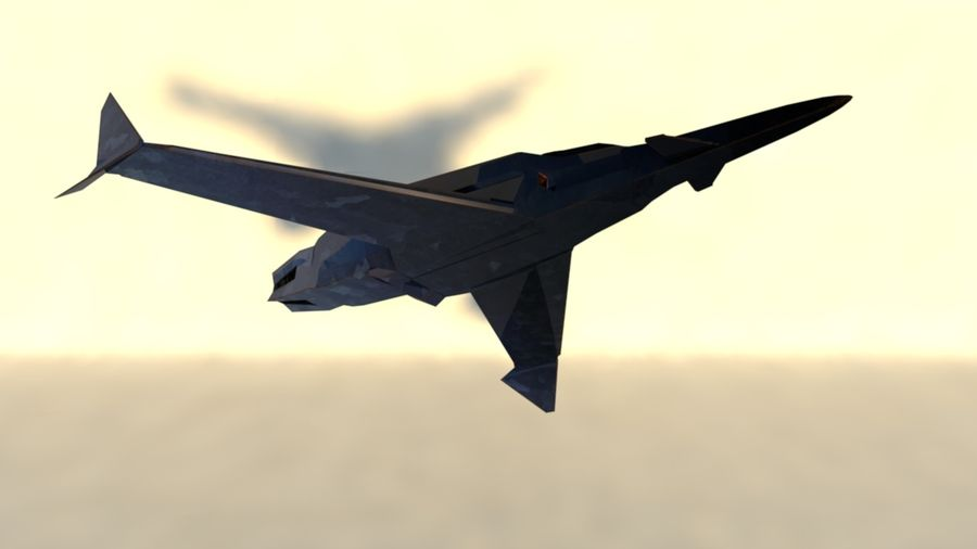 Stealth Fighter Jet royalty-free 3d model - Preview no. 11