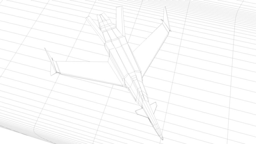 Stealth Fighter Jet royalty-free 3d model - Preview no. 16