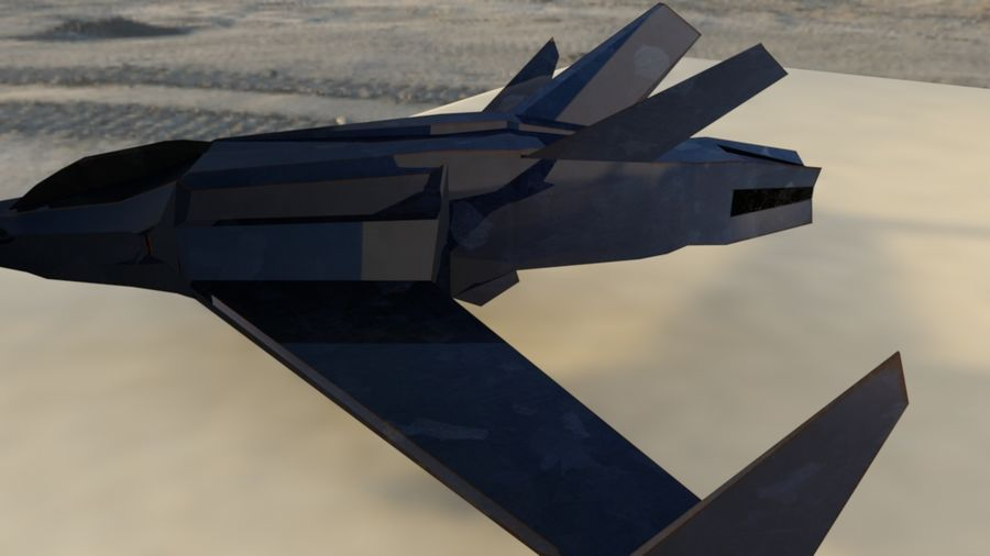 Stealth Fighter Jet royalty-free 3d model - Preview no. 7