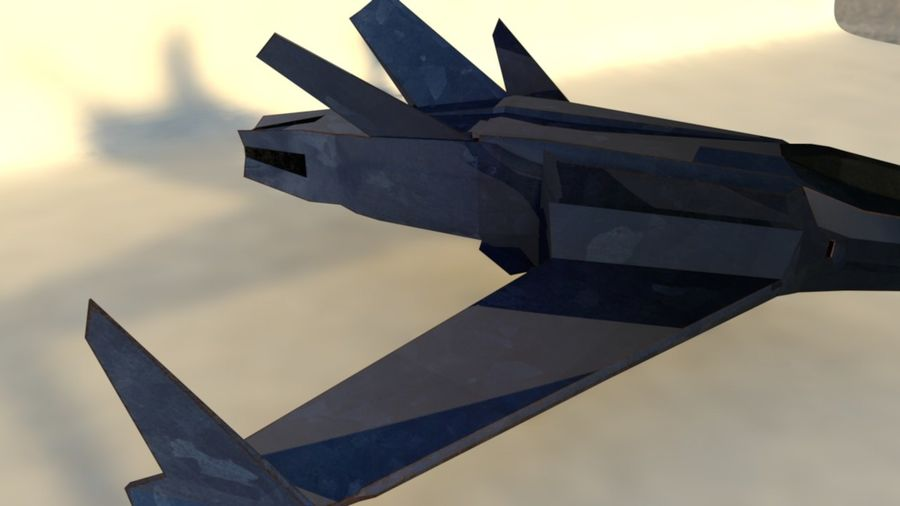 Stealth Fighter Jet royalty-free 3d model - Preview no. 6