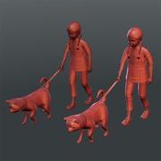 Kids 02(football,balloon,dog) 3d model