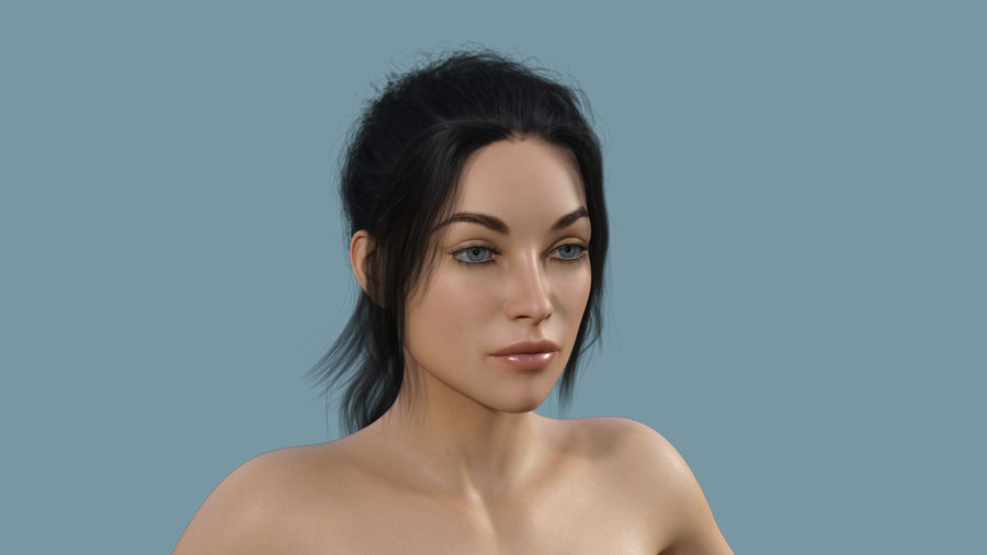 Realistic Female Character 4 royalty-free 3d model - Preview no. 1