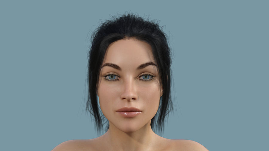 Realistic Female Character 4 royalty-free 3d model - Preview no. 4