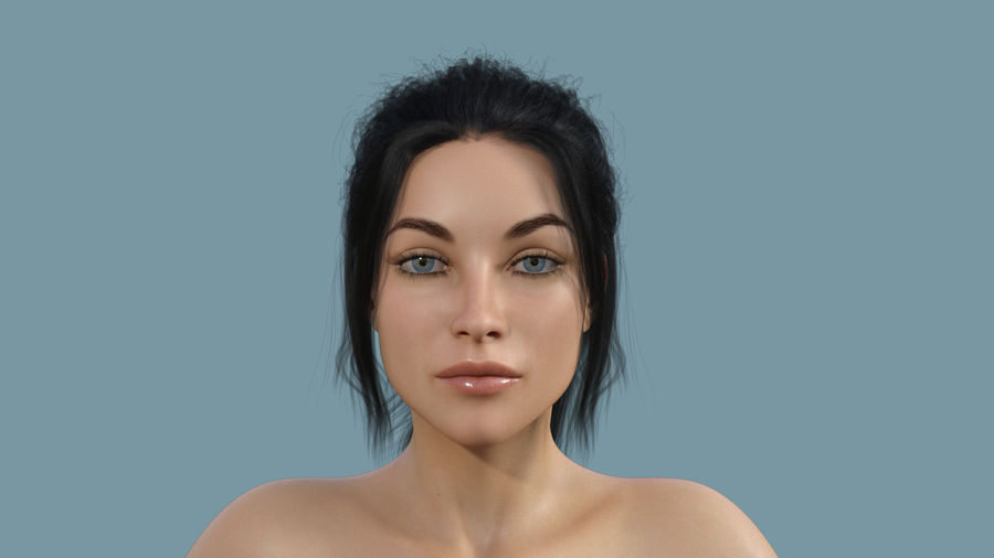 Realistic Female Character 4 royalty-free 3d model - Preview no. 2
