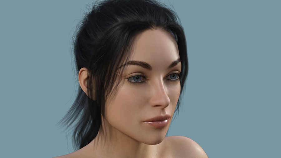 Realistic Female Character 4 royalty-free 3d model - Preview no. 5