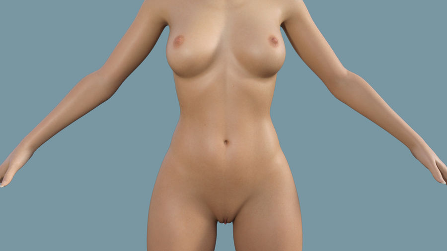 Realistic Female Character 4 royalty-free 3d model - Preview no. 10