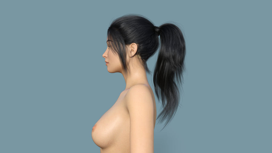 Realistic Female Character 4 royalty-free 3d model - Preview no. 3