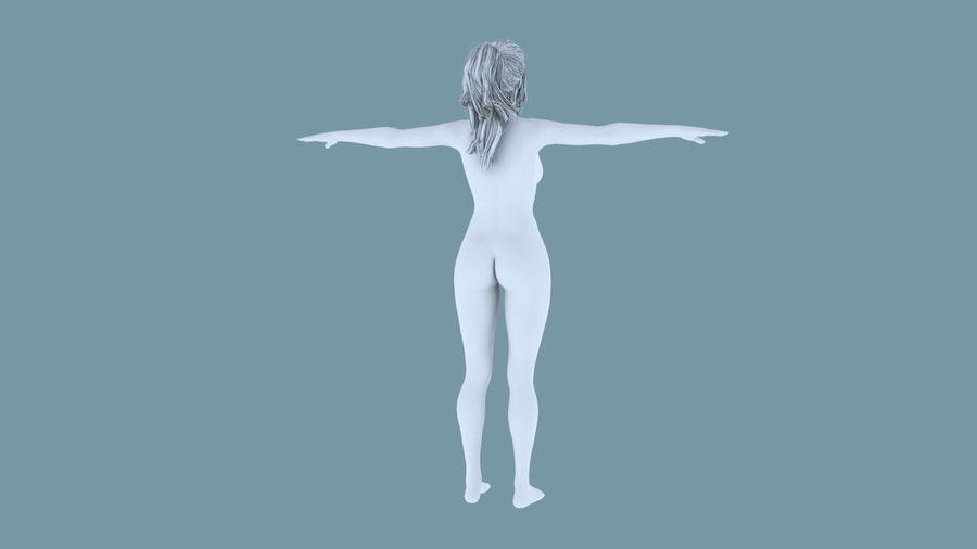 Realistic Female Character 4 royalty-free 3d model - Preview no. 15