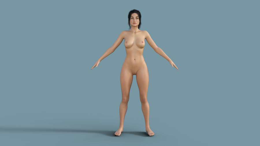 Realistic Female Character 4 royalty-free 3d model - Preview no. 6